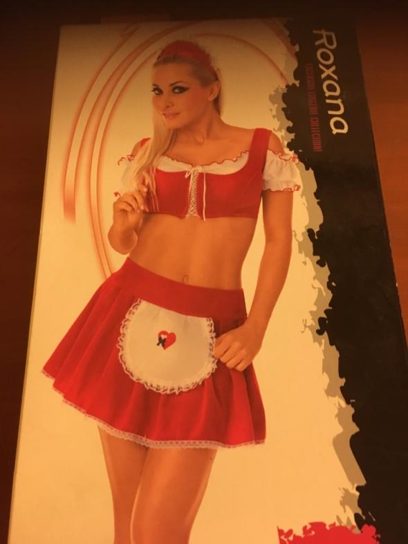 Komplety Czerwona pokojówka komplet bielizny erotycznej