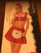 Czerwona pokojówka komplet bielizny erotycznej...