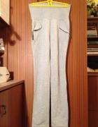 Spodnie dresowe jak legginsy z kieszeniami XS S M 34 36 38 elas...