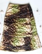 Boho spódnica zielono brązowa z cekinami...