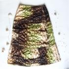 Boho spódnica zielono brązowa z cekinami