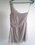 Sukienka zwiewna mgiełka na jedno ramie Topshop