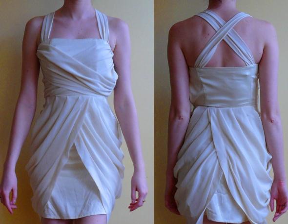 Sukienka ecru jak Asos