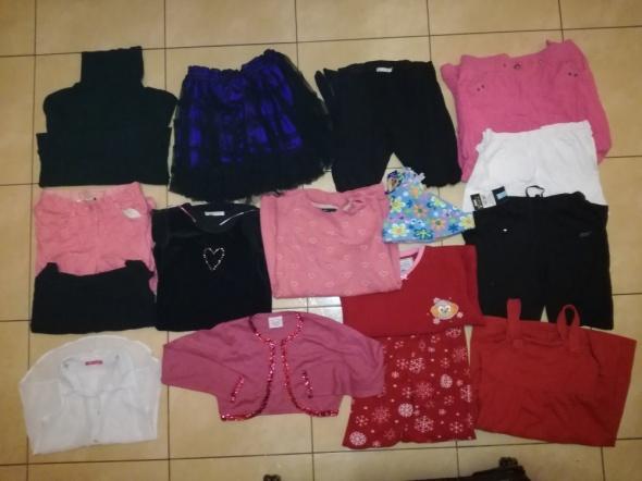 Pozostałe Zestaw ubrań 19 szt dla dziewczynki w wieku 8 10 lat rozmiar 128 140