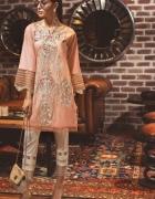 Nowa indyjska tunika kameez L 40 haft kwiaty kurta kurti Bollyw...