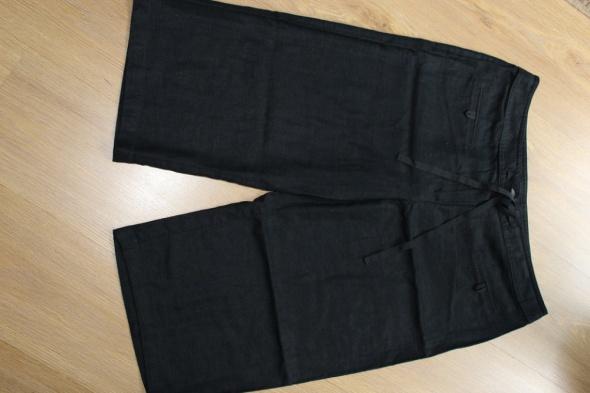 Spodenki spodenki rybaczki czarne lniane 42 44 xl spodnie