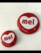 MEL Melissa przypinki piny 2 szt NOWE...