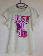 Koszulka tshirt Nike oryginalny używany seledynowy nadruk Just ...