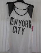 Gaze shirt bluzka biała czarna siateczka koszulka...