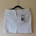 George biała spódnica mini jeans 38 40