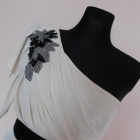 Lipsy London sukienka ecru nude 38 40