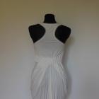 Lucca Couture biała sukienka zip 36 bombka