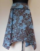 Next spódnica midi brąz niebieski 44...