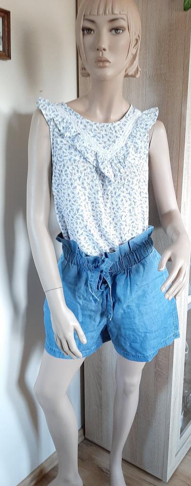 Spodenki Jeansowe szorty z wiązaniem