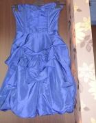 piękna marszczona gorsetowa sukienka