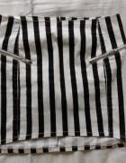 Dżinsowa w paski H&M...