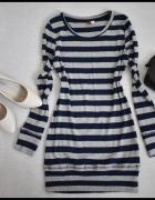 H&M krótka sukienka bądź tunika w paski rozmiar 34 i 36...