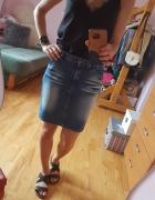 Jeansowa spódniczka cieniowana Ombre...