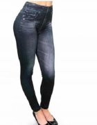 Legginsy Jeans Jegginsy Damskie Czarne S M...