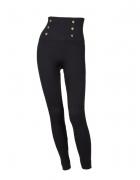 Ciepłe legginsy jegginsy wysoki stan guziki roz L XL