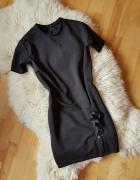 Czarna sukienka MOODO Oversize XS S...