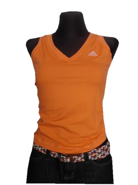 Koszulki ADIDAS koszulka damska pomaranczowa rozm S M