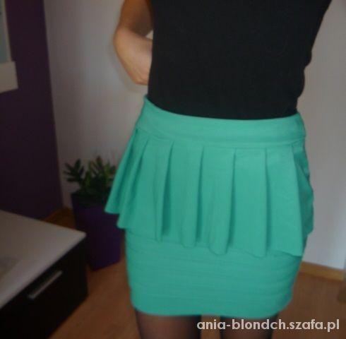 Spódnice Ciemna mięta śliczna mini spódniczka