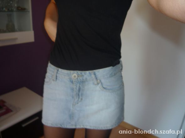 Spódnice Mini spódnica jeans z haftem