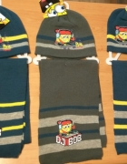 Nowy zimowy komplet chłopięcy czapka i szalik spongebob 54...