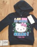 Nowa granatowa bluzka dziewczęca z kapturem Hello Kitty 98 104...