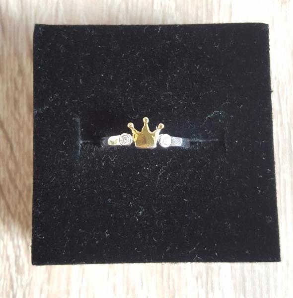 Pierścionki Nowy srebrny pierścionek koronka złota kolorowana cyrkonie rozmiar uniwersalny