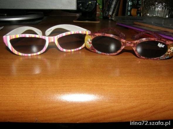 Dwie pary okularków przeciwsłonecznych