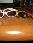 Dwie pary okularków przeciwsłonecznych...