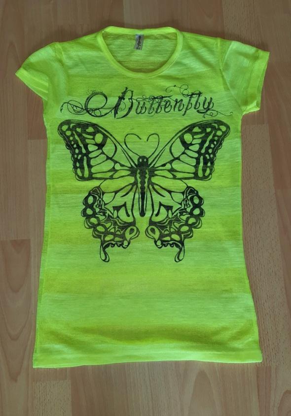 T shirt neon siatka lato S...