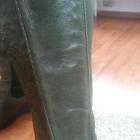 zielone khaki kozaki ze skóry z goroteksem