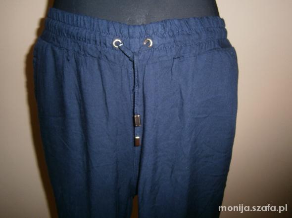 Spodnie Luźne granatowe spodnie baggy Reserved