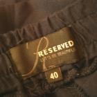 Luźne granatowe spodnie baggy Reserved