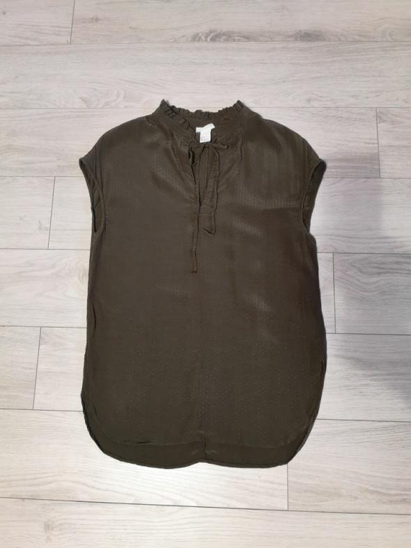 Bluzki Bluzka H&M x Anna Glover khaki top