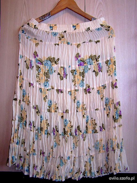 Spódnice Spódnica Pastelowa Kwiaty Floral Boho Romantyczna