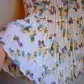 Spódnica Pastelowa Kwiaty Floral Boho Romantyczna