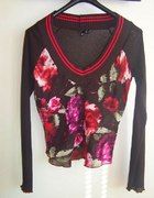 Bluzka MANGO modne kwiaty floral boho