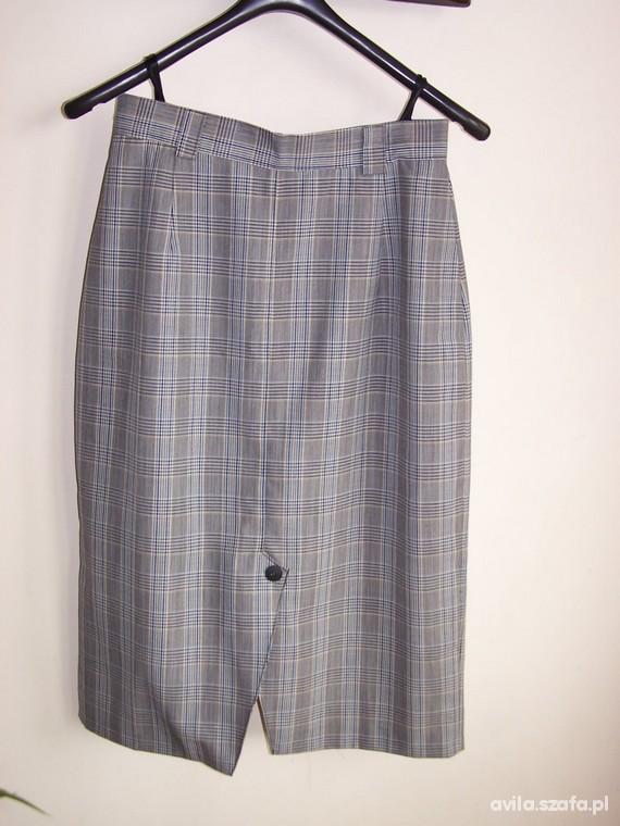Spódnice Spódnica W Kratę Vintage Retro