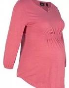 Bluzka ciążowa rękaw 7x8 różowa 38...
