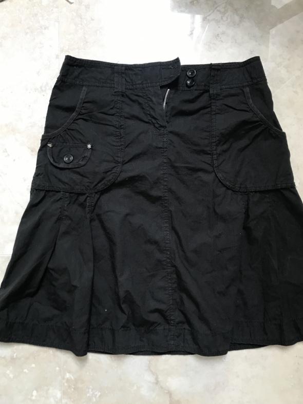 Spódnice Czarna spódnica midi Esprit
