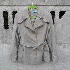 Jesienny Płaszcz 40 L beżowy Trencz