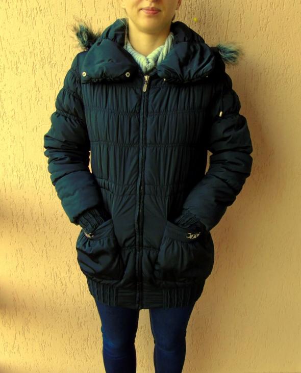 Odzież wierzchnia Ciepła zimowa długa kurtka Zara pikowana ściągacz