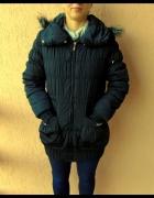Ciepła zimowa długa kurtka Zara pikowana ściągacz...