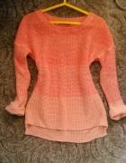 Brzoskwiniowy sweterek ombre Dunes