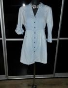 Świetna jeansowa koszula tunika L XL