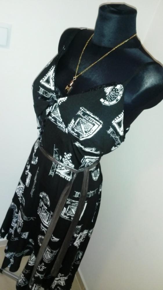 Suknie i sukienki NOWA zmysłowa czarna srebrna sukienka XL